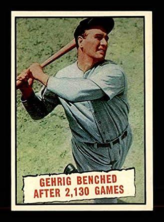 lowest price efaed a18ba Amazon.com: 1961 Topps #405 Lou Gehrig Streak EXMT X1678100 ...