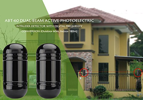 Amazon.com: Dual Beam Intruder Detector & Alarm - Outdoor 60M Indoor 180M Detection Range, Beam Spread 1.5M, Optical Adjustment: Electronics