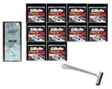 Trac II Chrome Handle + Trac II Plus Refill Razor Blades 10 ct. (Pack of 10) with FREE Loving Color trial size conditioner