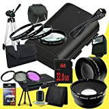 Canon EOS 70D DSLR Camera with 18-135mm STM f/3.5-5.6 Lens LP-E6 Lithium Ion Replacement Battery + 32GB SDHC Class 10 Memory Card + 67mm 3 Piece Filter Kit + Full Size Tripod + 67mm Macro Close Up Kit + 67mm 2x Telephoto Lens + 67mm Wide Angle Lens + Carr