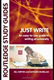 Just Write, Kathleen McMillan and Bill Kirton, 0415396786