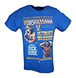 Wrestlemania 5 Ultimate Warrior vs Ravishing Rick Rude WWE Mens Blue T-shirt-5XL