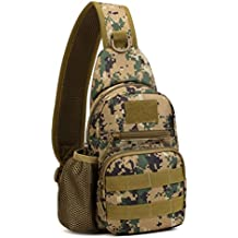 Protector Plus Tactical Sling Chest Pack Bag Molle Daypack Backpack iPad Mini Military Shoulder Bag Crossbody Duty Gear For Hunting Camping Trekking