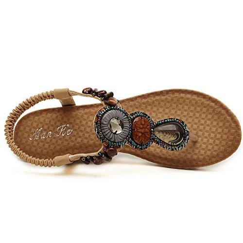 COOLCEPT Mujer Moda Correa de Tobillo Correa Tacon de Cuna Slingback Chancla Zapatos Albaricoque