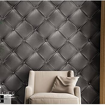 Dark Grey 3235 Dark Gery 3D Leather textured wallpaper Vinyl