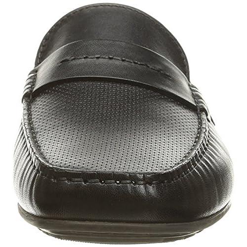 8ebb82a1841 well-wreapped HUGO by Hugo Boss Men s Travelling Dandy Moccasin in Black  Leather Slip-