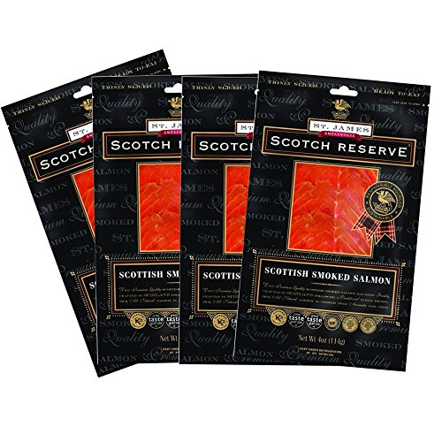 Scotch Reserve Scottish Smoked Salmon Four, 4 oz Packs - Sliced & ()