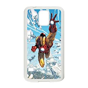 High quality cartoon iron man durable cases For Samsung Galaxy S5 b-847-IR719314