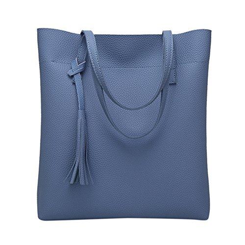 Bandoulière Cuir Femme Main Sac Blue Mode Lanlan Souple À En Pour Simple Sacs gz1qxnO