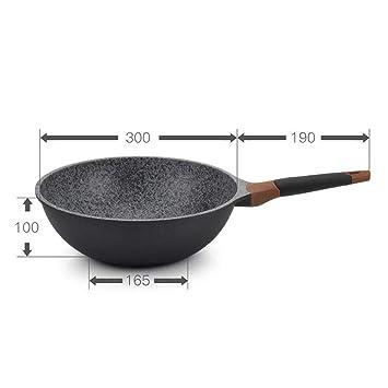 Freidora Pan Wok Antiadherente Pan Steak Pan Freidora Profunda: Aleación De Aluminio Resistente Al Desgaste, Elegante Y Hermosa, Ventilación Oculta, ...