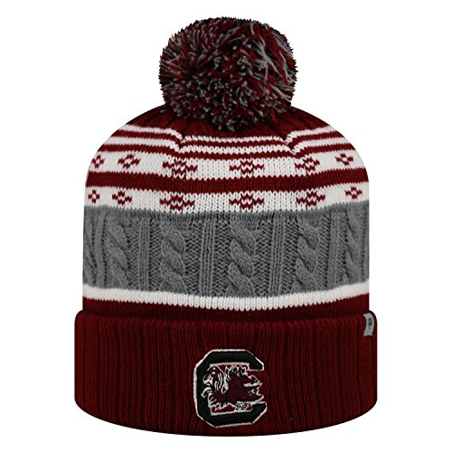 South Carolina Gamecocks Stocking (South Carolina Gamecocks Official NCAA Cuffed Knit Altitude Beanie Stocking Stretch Sock Hat Cap by Top of the World 812397)