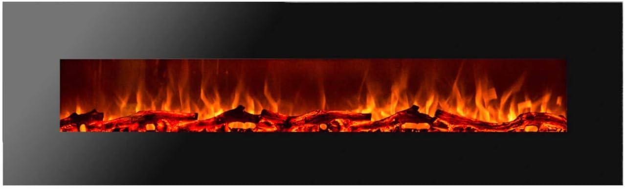 GLOW FIRE Chimenea eléctrica con calefacción,