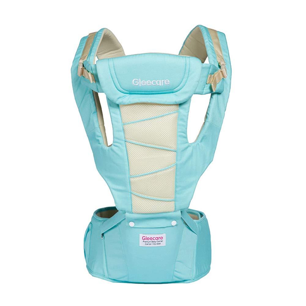 Babyträger mit Hüftsitz und Baby-Windel Beutel 2-in-1.360 ° Ergonomisch, Für Alle Jahreszeiten,Blau