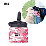 Dog Treat Bag&Training Pouch,Portable Pet Feed Pocket Pouch Detachable Puppy Snack Waist Bag with Belt Clip & Built-in Poop Bag Dispenser