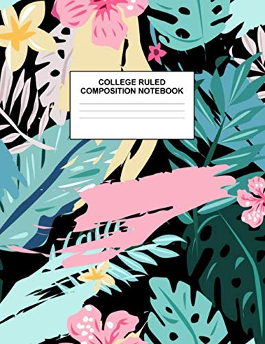 College Ruled Composition Notebook: Cute Blank Lined Journal to Write In with White Paper Rule Pages for School Subject and Writing Pad : Design Code A4 5550