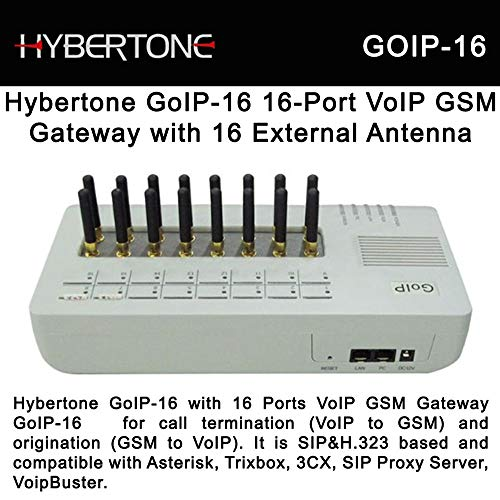 Anysun Goip-16 Gsm Voip Gateway w/ External Antenna 16 GSM Channels up to 16 SIM Cards by GOIP ()