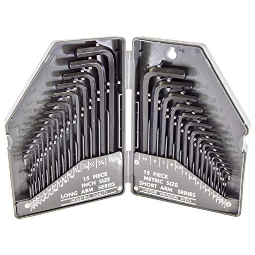 Science Purchase 30 Piece Hex Key Wrench Set - SAE/MM