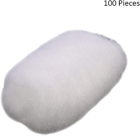 100 unids/bolsa bola de algodón tatuaje desinfección maquillaje lociones limpiadores aceites esmalte de uñas eliminación de cosméticos bolas de algodón de hojaldre (Color : White): Amazon.es: Hogar