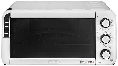 DeLonghi EO12012W Horno de sobremesa con temporizador de apagado automático, Mecánico, 1400 W, 12 L, 3 funciones, blanco