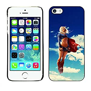 Exotic-Star ( Funny Sexy Super Woman Superhero ) Fundas Cover Cubre Hard Case Cover para Apple iPhone 5 / 5S