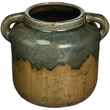 Amazon Imax 13325 Bardot Blue Stone Large Ceramic Vase Home