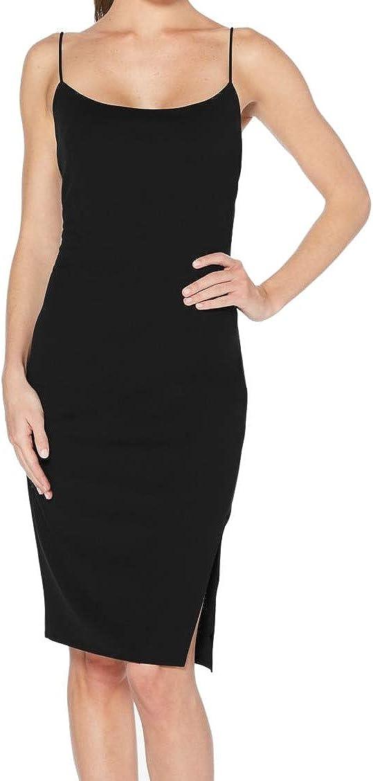 Laundry by Shelli Segal Women's Dress Slip Leg-Slit Black 2