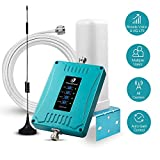 5 Band Cell Phone Booster Enhance Your Cellphone Voice 3G 4G LTE Data - Cellular Signal Repeater Dual 700/850/1700/1900MHz Antenna Amplifier Kit Supports 4,500 Square Foot Area