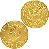 Chocolate Large Half Dollar Gold Coin Gold Belgian Milk Chocolate Coin Kosher (100 Large Half Dollar Coins)