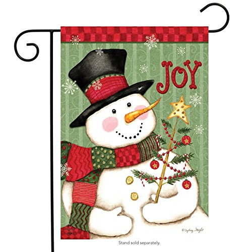 Briarwood Lane Snowman Joy Christmas Garden Flag Primitive Holiday 12.5