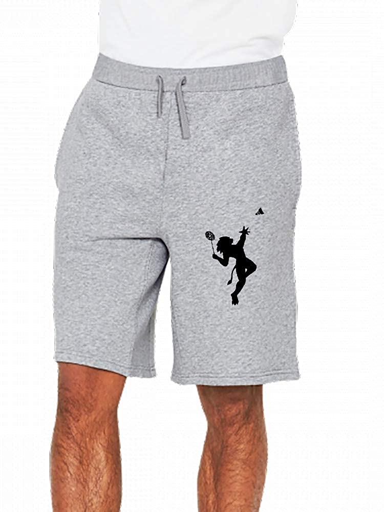 JiJingHeWang Lion of Badminton Players Mens Casual Shorts Pants