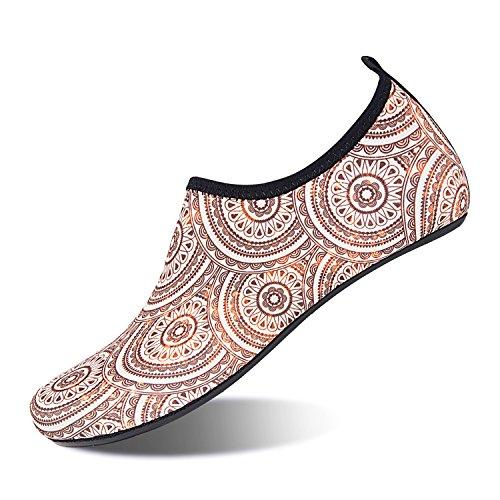 Dahlia Stockings - Aqua Socks Beach Water Shoes Barefoot Yoga Socks Quick-Dry Surf Swim Shoes for Women Men (Dahlia, 40/41EU)