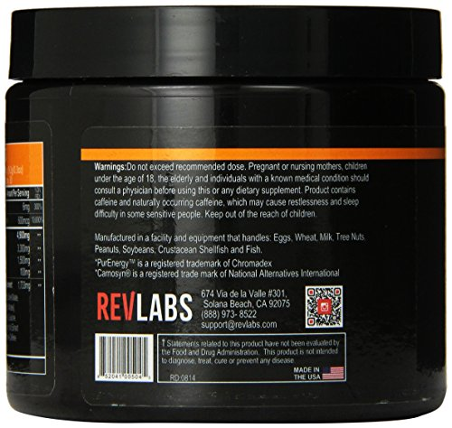 Rev Labs EndoRev Revolutionary Pre-Workout Igniter, Raspberry Lemonade, 240 Gram