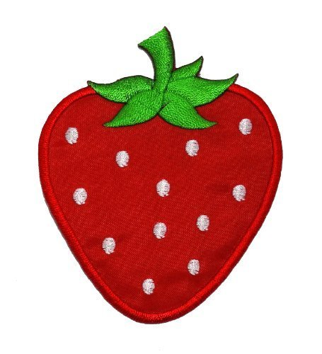 Cute Red Strawberry DIY Applique Embroidered Sew Iron on Patch STB-002