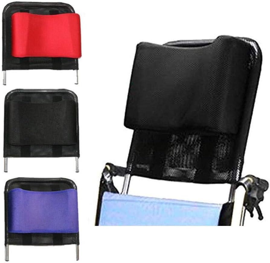 reposacabezas para silla de ruedas, soporte para el cuello, cojín para el respaldo del asiento, cómodo, transpirable, acolchado ajustable, accesorios universales para viajes de adultos 16