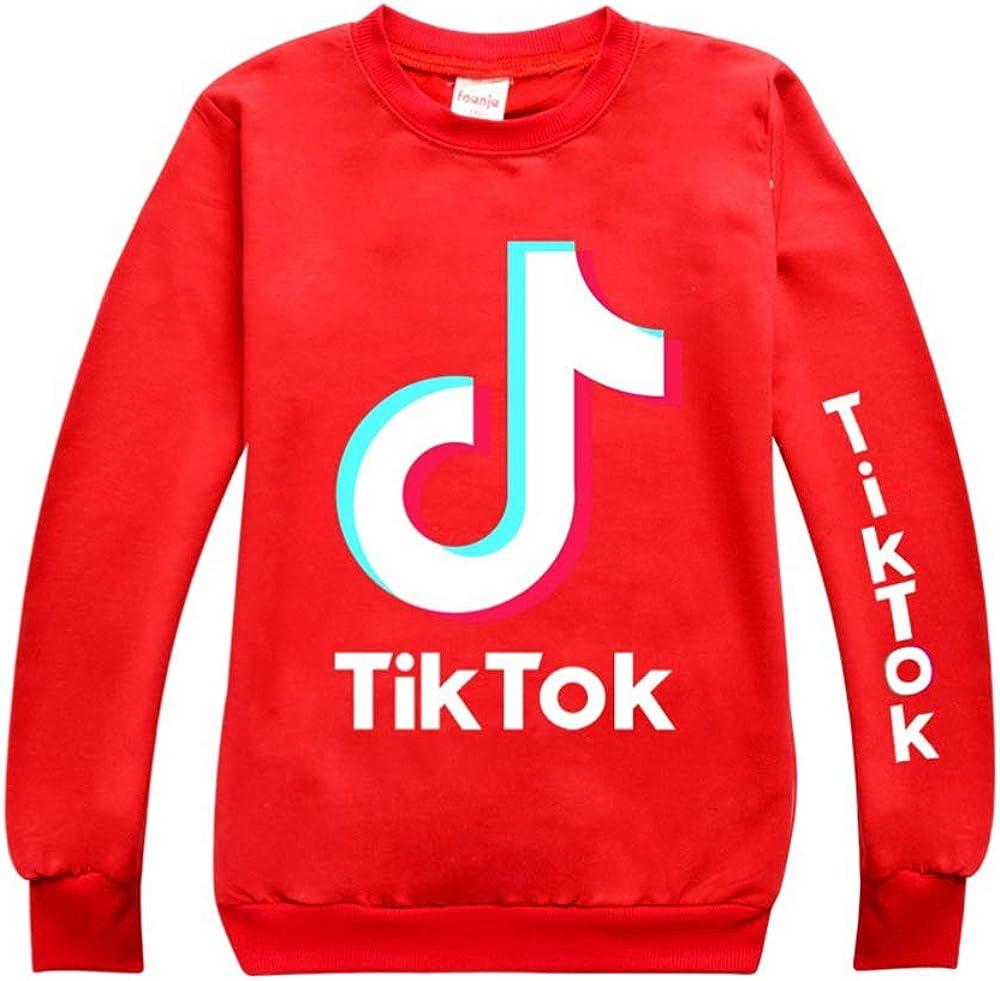 Dgfstm Girls TIK TOK Sweatshirt Crew Neck Casual Sweater Kids Pullover