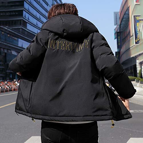 Imbottito Uomo Black Comfort Caldo Con Piumino Perfetto Giacca Giacche Cappotti Slim Cappuccio Regalo Corto In Da Cotone qpazXTxw