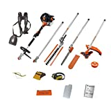 TIMBERPRO 5in1 52CC Petrol Long Reach Multi Function 5 IN 1 Garden Tool. Includes : Hedge Trimmer, Strimmer, BrushCutter, Chainsaw & Extension Pole