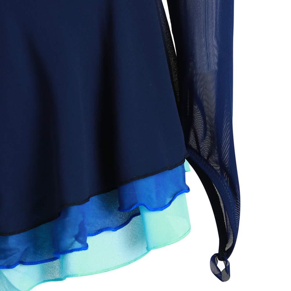 YunNR Erwachsene Kinder Professionelle Eiskunstlauf Wettbewerb Kleider Kleider Kleider Asymmetrischer Strassstein Lange Ärmel Handgemachte Eislaufbekleidung Hohe Elastizität Performance Kostüm B07MK2T7G1 Bekleidung Schnelle Lieferung 38615d
