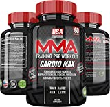 Cardio Max Pre Workout Capsules - Appetite Suppressant Energy Pills - Metabolism Booster for Weight Loss - Workout Supplements for Men & Women - Caffeine Pills 200mg - Natural Appetite Suppression