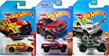2017 Hot Wheels Zamac Exclusive Ram 1500 Truck HW Hot Trucks '17 Ford F-150 Raptor #10 Maroon Pickup & '15 Ford Rescue F-150 3-Pack in Protective Cases
