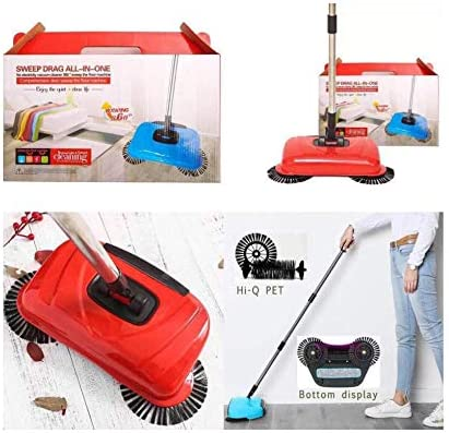 Sweep Drag All-In-One Household Hand Push Rotating Sweeping Broom, Room And  Office Floor Sweeper Cleaner Dust Mop Set: Buy Online at Best Price in UAE  - Amazon.ae