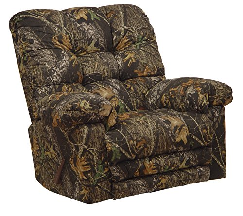 4689-2-2657-15 (Mossy Oak New Breakup) Catnapper Oversized Magnum Rocker Recliner With Heat and Massage. Free Curbside Delivery.