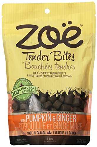 (Zoe Tender Bites for Dogs, All Natural Dog Treat, Pumpkin and Ginger, 5.3 Oz)