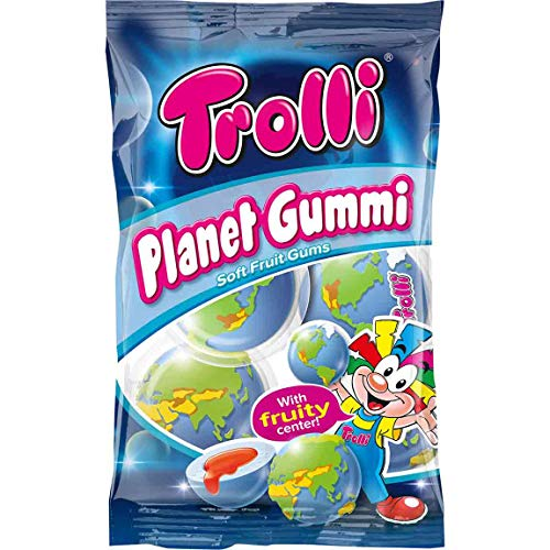 (Trolli Planet Gum (75g) pack of 2 - Foamed Sugar Gumdrops with fruity)