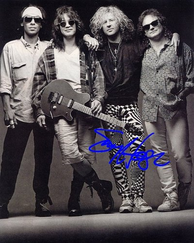 (Van Halen Autographed Preprint Signed Photo)