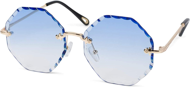 20-018 Damen Sonnenbrille rechteckig braun geflammt//gold