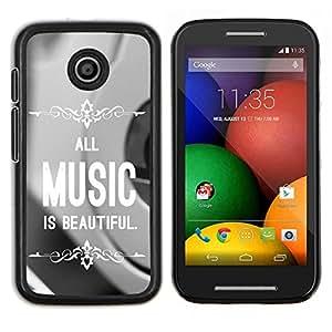 LECELL--Funda protectora / Cubierta / Piel For Motorola Moto E -- La música es hermosa --