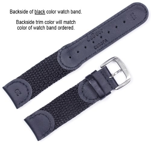 Swiss Army Watchband Black 20mm Watch band - by deBeer by deBeer (Image #2)