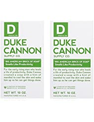 Duke Cannon Men's Bar Soap - 10oz. Big American Brick Of Soap - Smells Like Productivity - 2-Pack (2-Pack)