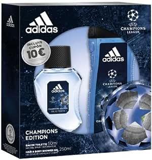 Adidas Champions Editios Set, Eau de toilete 50 ml y Gel de Ducha para Cabello y Cuerpo 250 ml: Amazon.es: Belleza